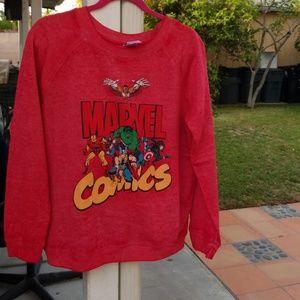 Red marvel pullover